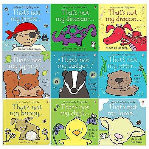 Thats Not My Touchy Feely Series 9 Books Collection Set By Fiona Watt