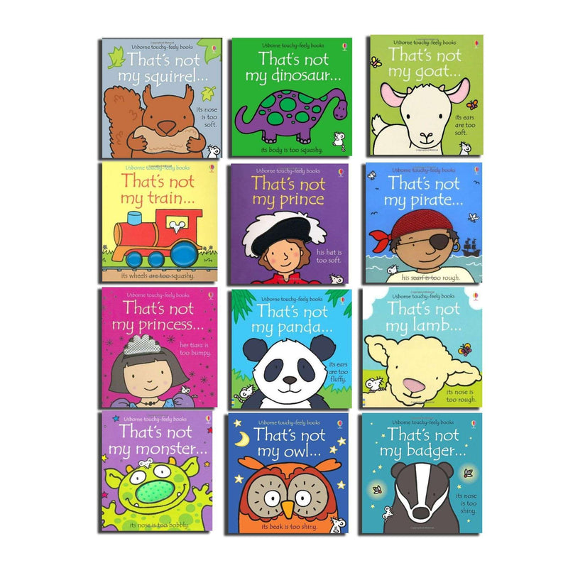 Thats not my touchy feely toddlers 12 board books collection set by Fiona Watt