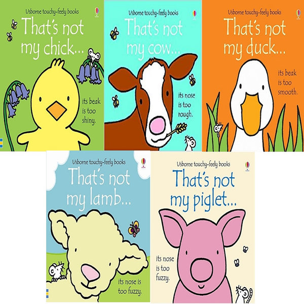 Thats Not My Farm Animals Collection Usborne Touchy-Feely 5 Books Set