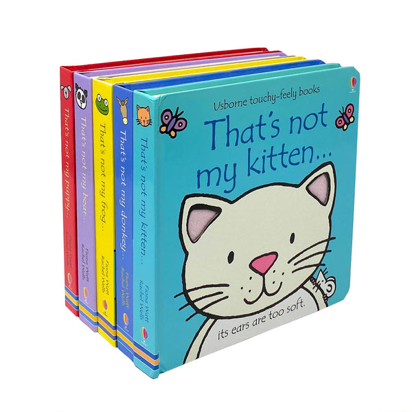 That's Not My Animals 5 Books Collection Set (Frog,Bear,Kitten..) By Fiona Watt