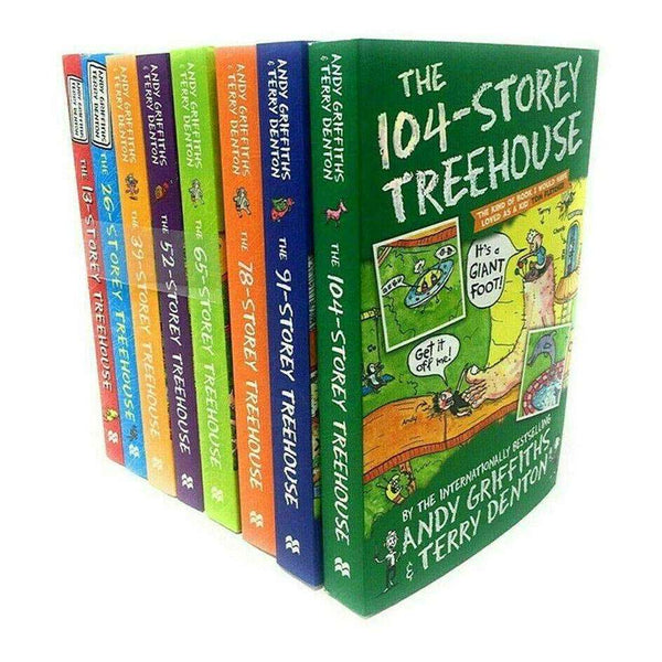 The 13-Storey Treehouse Collection 8 Books Set Vol 1-8 By Andy Griffiths & Terry Denton