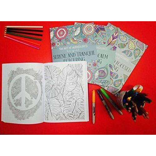 The Art of Mindfulness Relax with Art Colouring for Adults 4 Book Collection Set