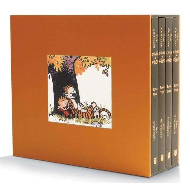 The Complete Calvin and Hobbes 4 Book Set Collection By Bill Watterson