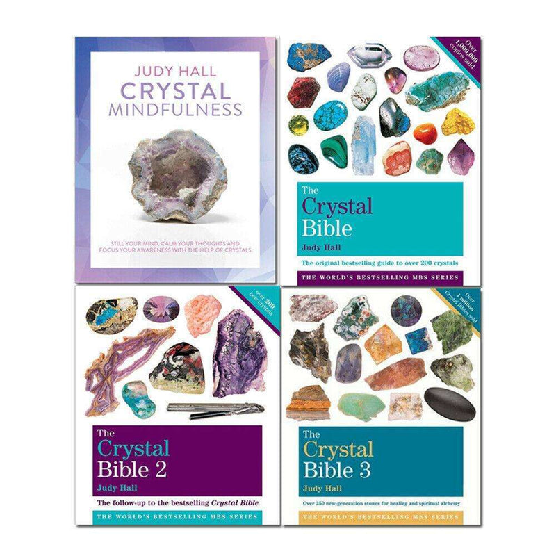 The Crystal Bible 4 Books Collection Set By Judy Hall Guide to Crystals