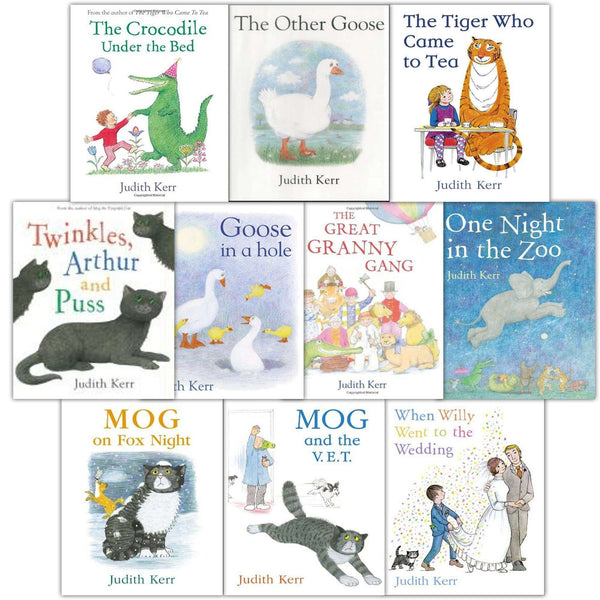 The Judith Kerr Collection 10 Books Set - The Tiger Who Came to Tea, The Crocodile Under the Bed