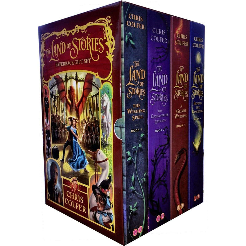 The Land of Stories Collection Chris Colfer 4 Books Box Set - Once upon a time twists