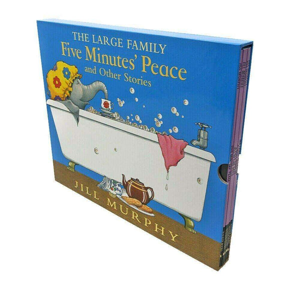The Large Family Five Minutes Peace 5 Books Box Set by Jill Murphy