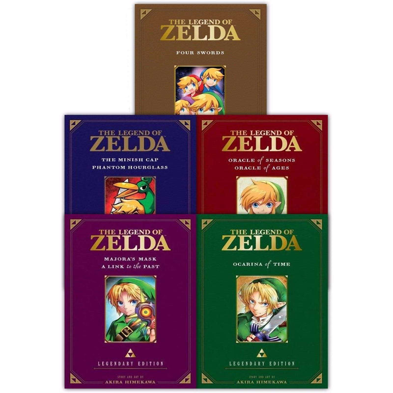 The Legend of Zelda Legendary Edition Vol 1-5 Collection 5 Books Set