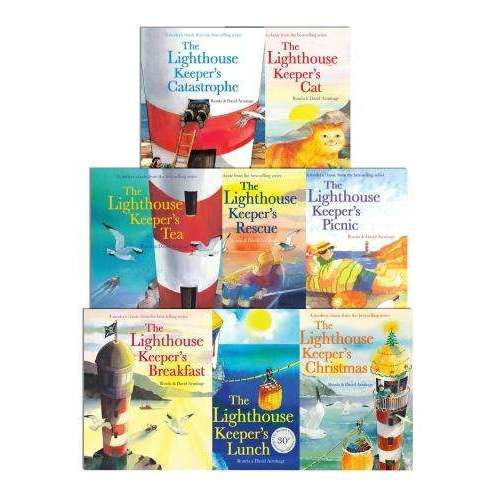The Lighthouse Keeper's Lunch Collection 8 Books Set Cat, Picnic, Rescue, Tea