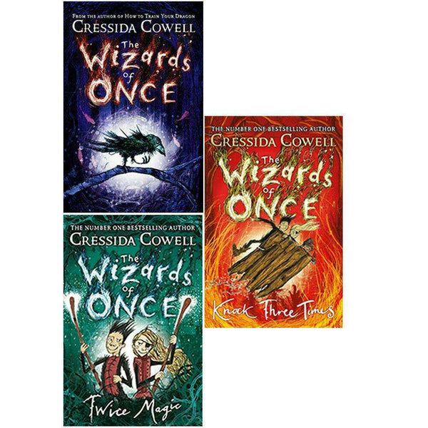 The Wizards Of Once 3 Books Children Collection Set By Cressida Cowell