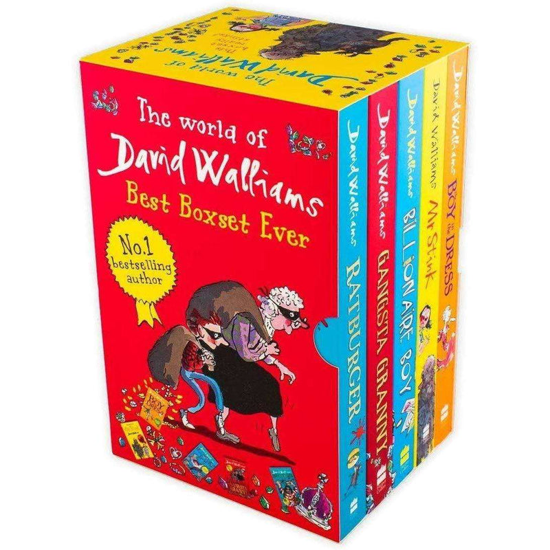 The World Of David Walliams Collection 5 Books Box Set Gangsta Granny, Mr Stink