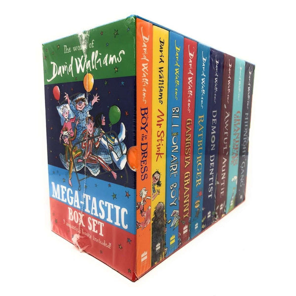 The World of David Walliams Mega-tastic 9 Books Box Set Collection Mr Stink