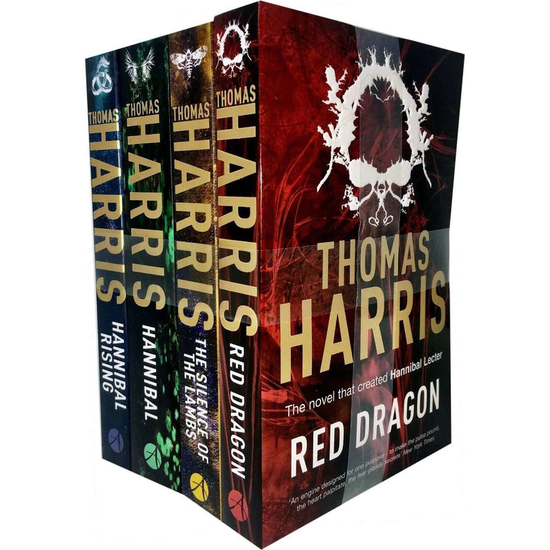Thomas Harris Hannibal Lecter Collection 4 Books Set Red Dragon, Silence of Lamb