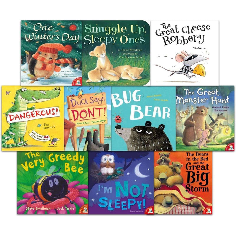 Tim Warnes 10 Books Picture Flats Set & Audio CD pack, The Great Cheese Robbery