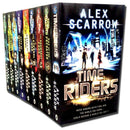 Time Riders Collection Alex Scarrow 9 Books Set Gates of Rome, Time Riders etc