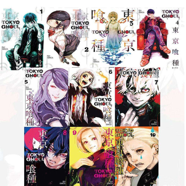 Tokyo Ghoul, Volume 1-10 Collection 10 Books Set By Sui lshida