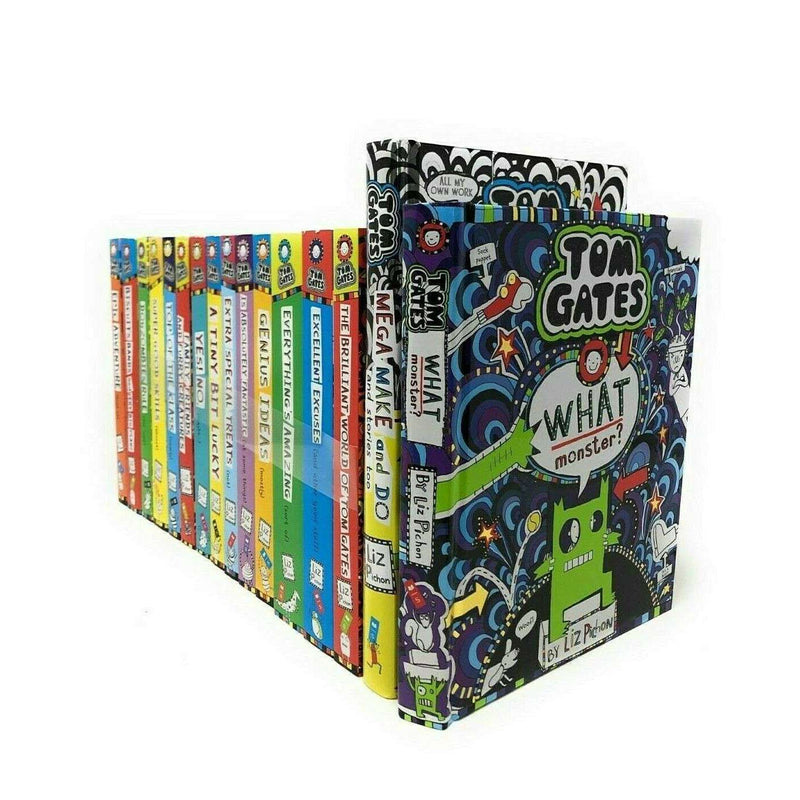 Tom Gates Liz Pichon 16 Books Collection Set Mega Make And Do, What Monster?