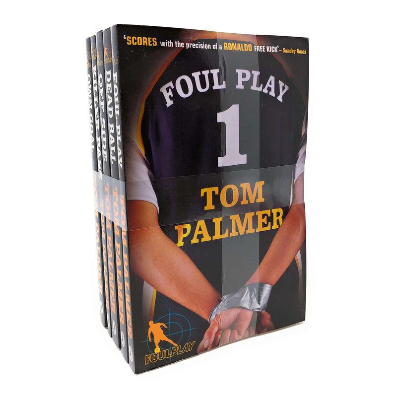 Tom Palmer Football Detective 5 Books Collection Set Off side Own Goal Foul Play