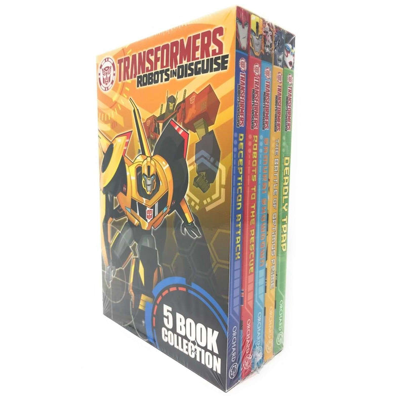 Transformers Robots In Disguise 5 Books Box Set Collection