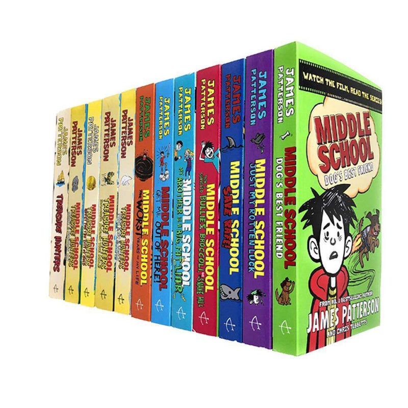 Treasure Hunters & Middle School Series 12 Books Pack Set By James Patterson