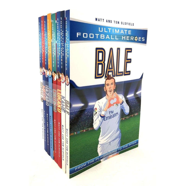 Ultimate Football Heroes 8 Books Set Collection Series 1 Messi, Ronaldo, Coutinho