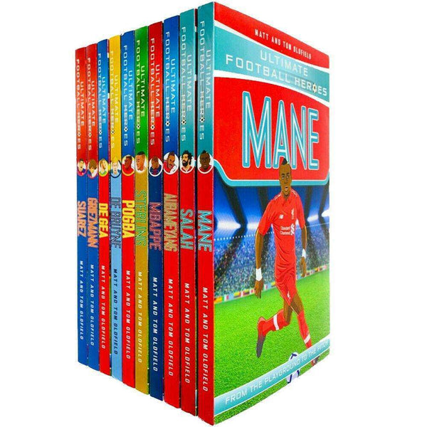 Ultimate Football Heroes Series 2 Collection 10 Books Set Mbappe, Salah, Mane