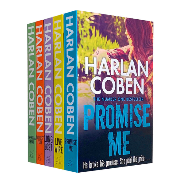 Harlan Coben 5 Book Set, The Final Detail, Darkest Fear, Promise Me...