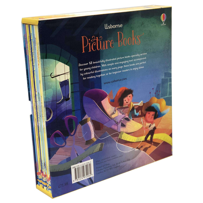 Usborne 12 Classics Picture Books Collection Box Set Elves & The Shoemaker