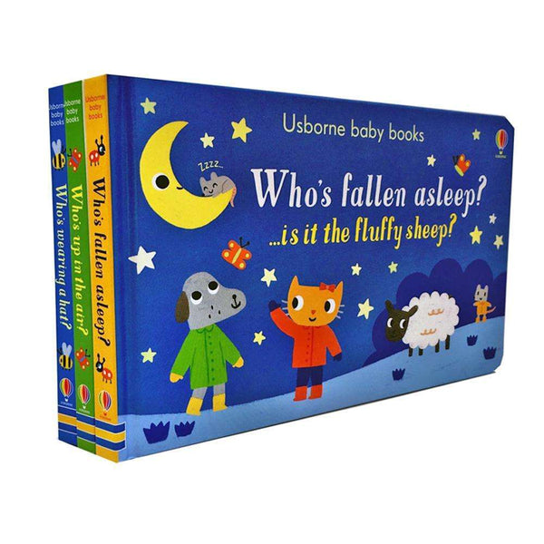 Usborne Baby Books Collection 3 Board Books Set Pack Who Fallen Asleep