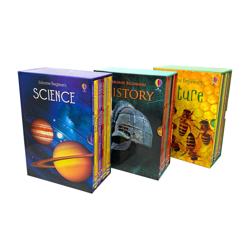 Usborne Beginners Series 30 Books Collection Box Set (History- Nature- Science)