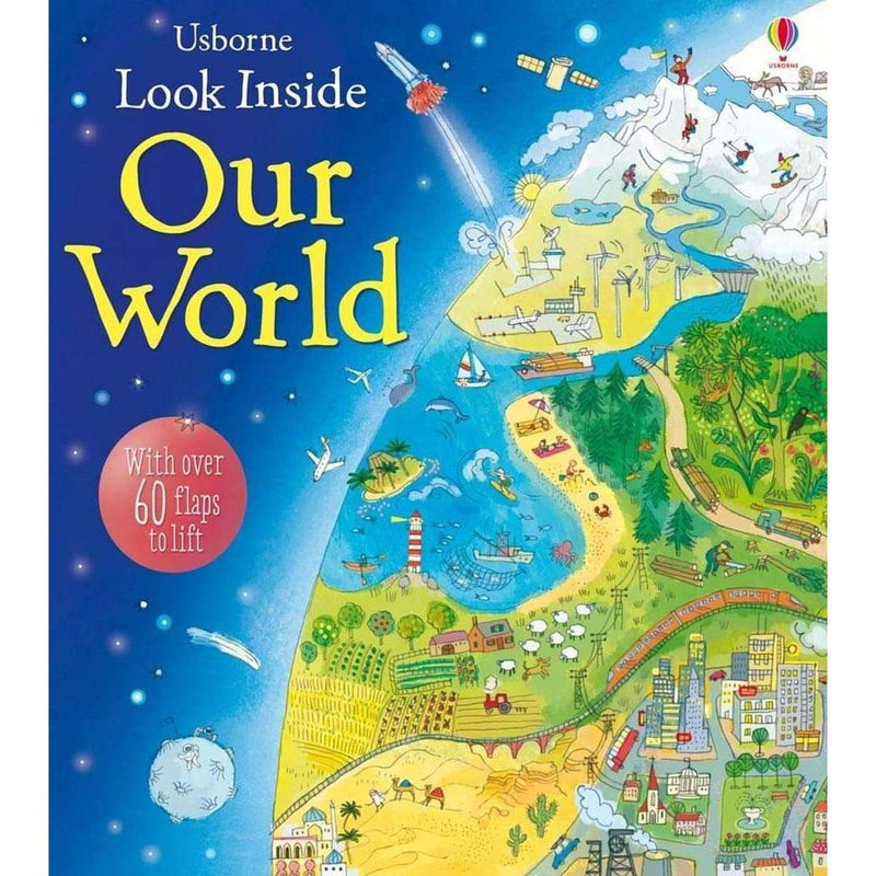 Usborne Look Inside 6 Books Collection Set Our World, Space