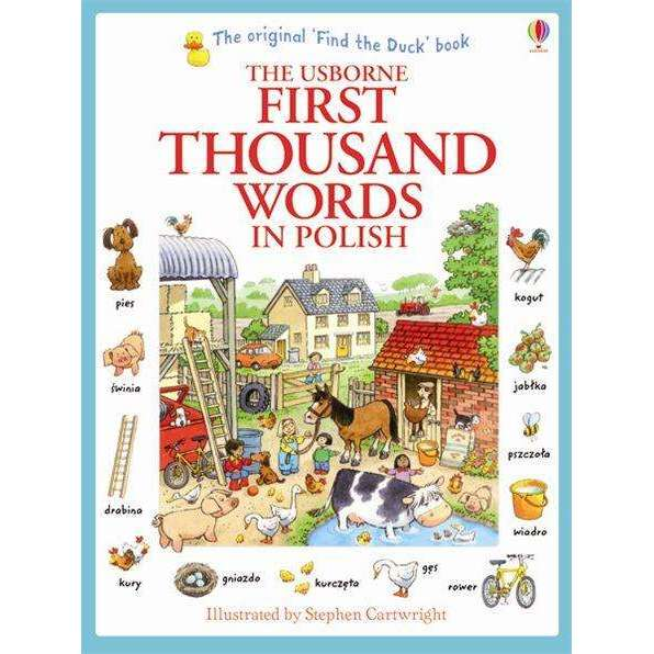 Usborne My First Thousand Words in Polish Book -  - Illustrated picture and word book