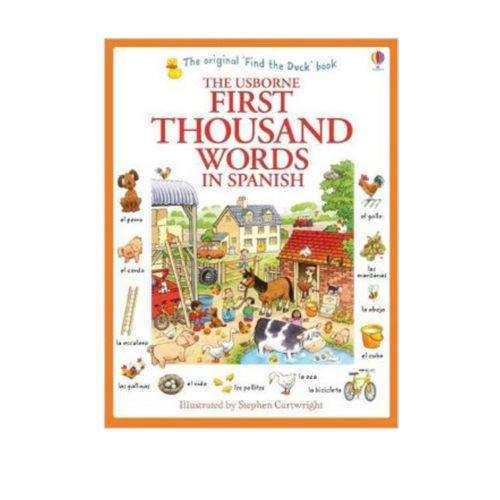 Usborne My First Thousand Words in Spanish Book -  - Illustrated picture and word book