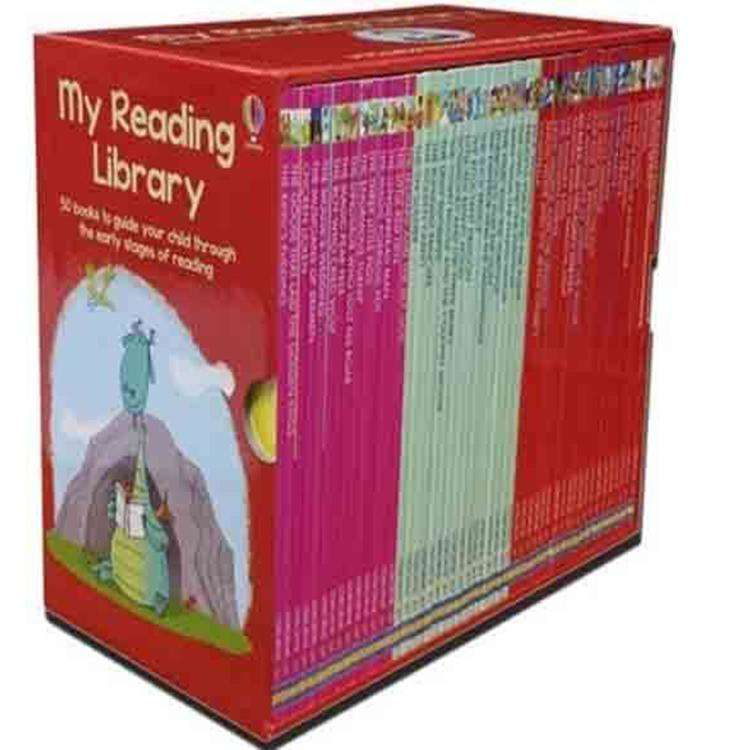 Usborne My Second Reading Library 50 Books Box Set Collection (Red)