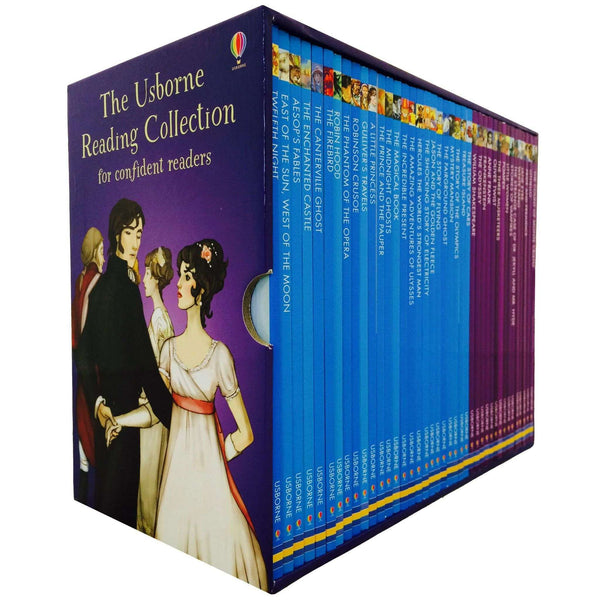 Usborne Reading Library - Confident Readers Collection 40 Books Box Set (Purple)