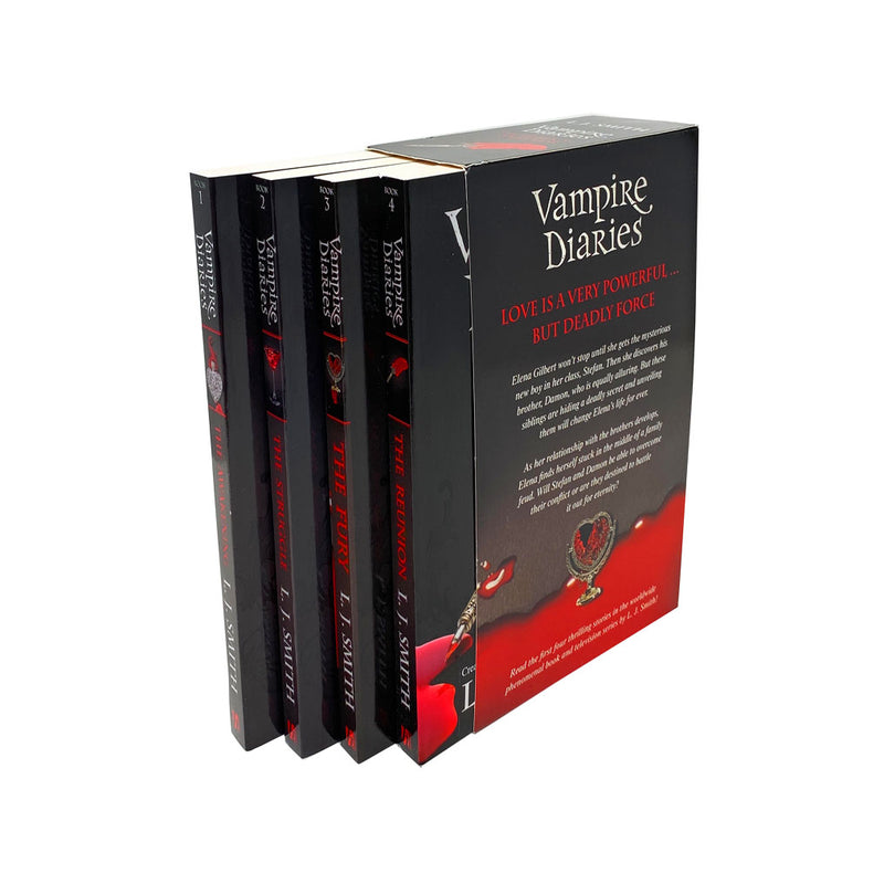Vampire Diaries 4 Books The Awakening Collection Box Set ( Vol 1 to 4 ) by L. J Smith