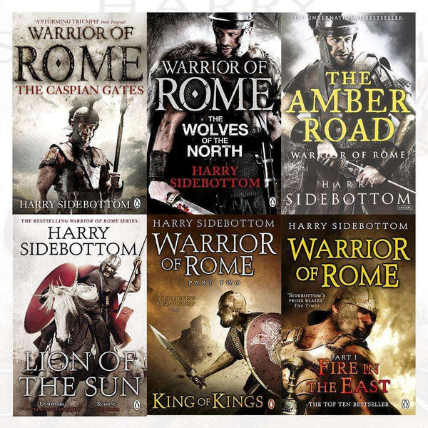 Warrior of Rome Series Harry Sidebottom 6 Books Collection Set Amber Road, Kings
