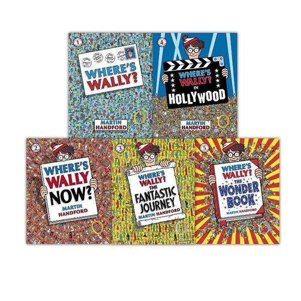 Wheres Wally 5 Book Set Collection Inc Hollywood, Wonder Book