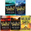 Wilbur Smith Collection Ancient Egypt Series 5 Books Set Desert God, River God
