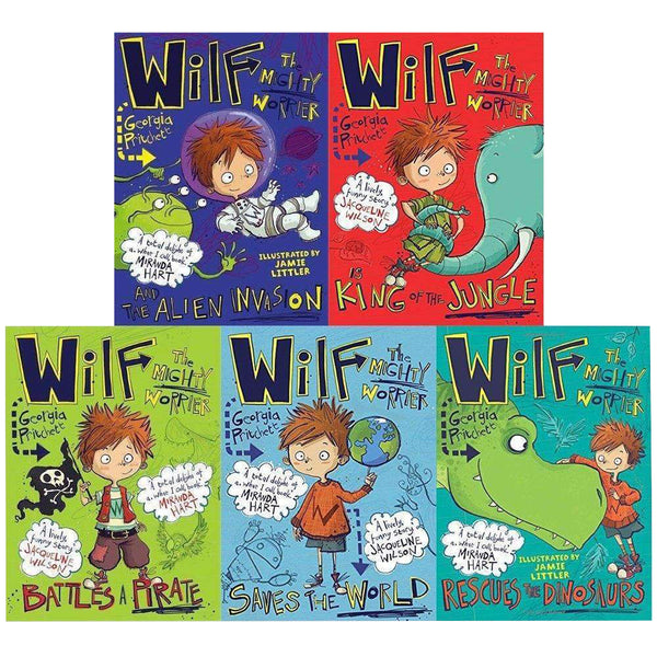Wilf the Mighty Worrier 5 Books (Vol 1-5)  Collection Set By Georgia Pritchett