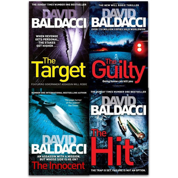 Will Robie Series David Baldacci 4 Books Collection Set The Target,Hit, Innocent