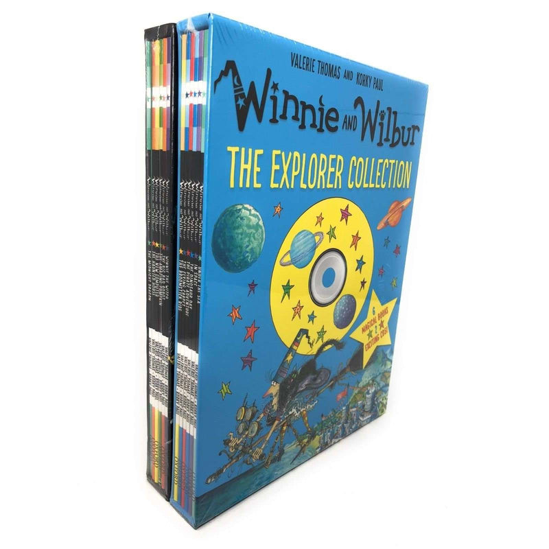 Winnie And Wilbur Explorer and Spooky Collection 12 Books & 4 CDs Valerie Thomas
