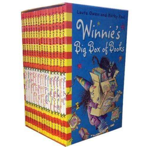 Winnie the Witch 16 Books Winnie's Big Box Of story Books Collection by Laura Owen V9
