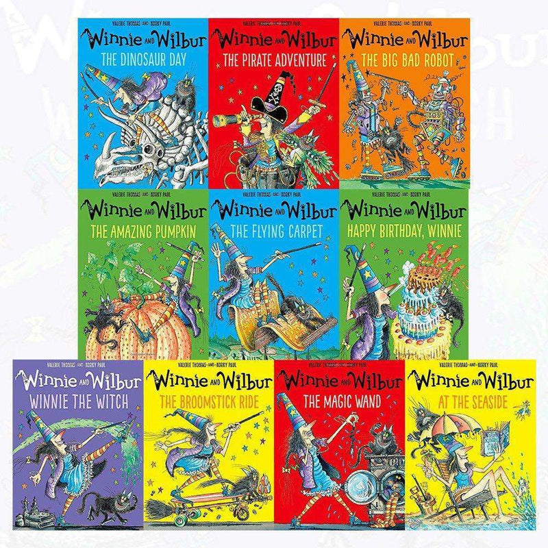 Winnie the witch and Wilbur 10 Books Collection Set Series 1 by Valerie Thomas The Amazing Pumpkin