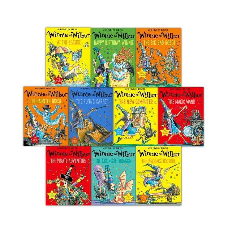 Winnie the witch and Wilbur 10 Books Collection Set Series 3 plus Audio CD Valeria Thomas