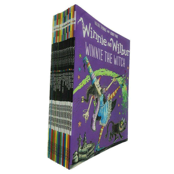 Winnie the witch and Wilbur Series 16 Books Bag Collection Set By Valerie Thomas Pack