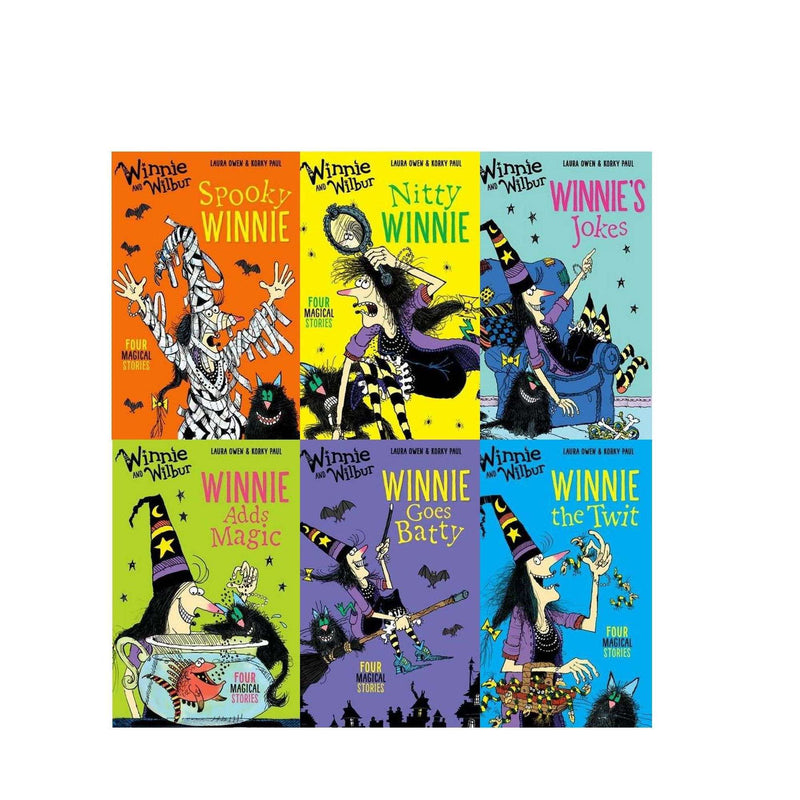 Winnie the witch and Wilbur Spooky Bag of Books Collection 6 Books Collection