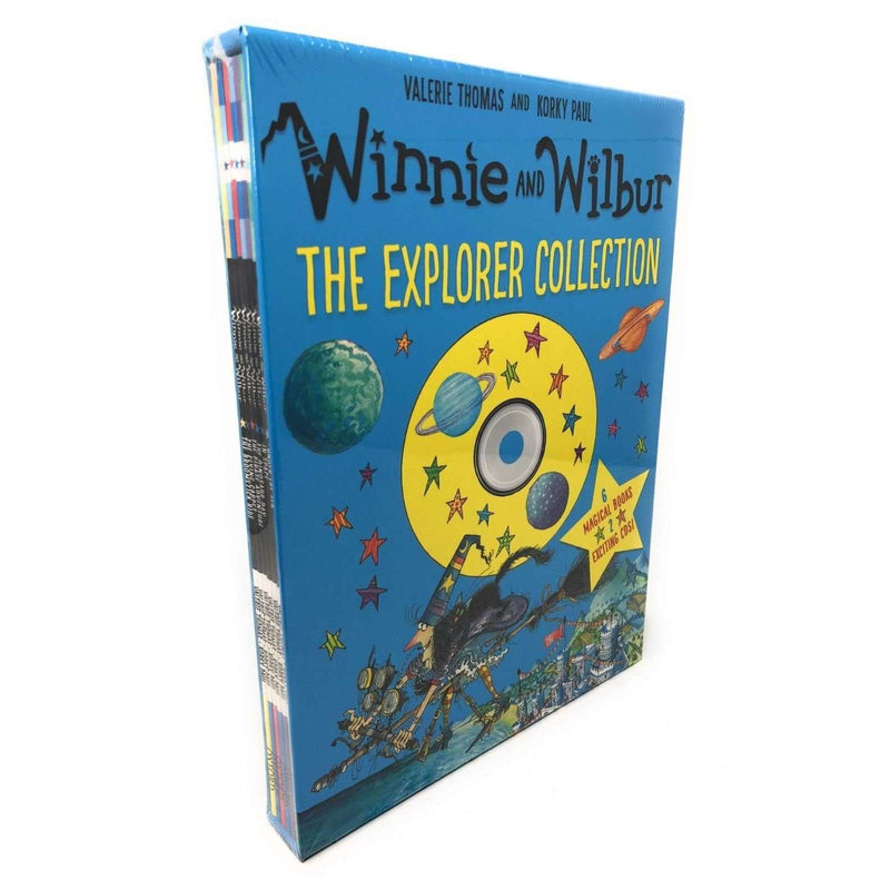 Winnie the witch And Wilbur The Explorer Collection 6 Books & 2 CDs Valerie Thomas