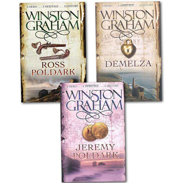 Winston Graham Poldark Collection 3 Books Set Include Ross, Demelza, Jeremy