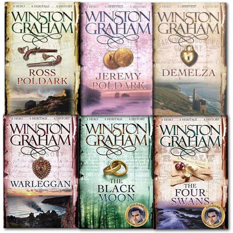 Winston Graham Poldark Series 6 Books Collection Set Books 1 to 6